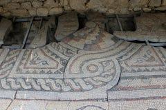 Fragmentos de los pisos de mosaico de las iglesias cristianas del siglo VI Imágenes de archivo libres de regalías