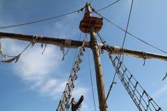 Fragmentos de um navio de pirata imagem de stock