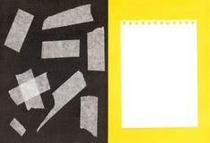 Fragmentos de una cinta pegajosa. Foto de archivo libre de regalías