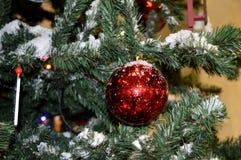 Fragmentos del árbol del Año Nuevo Fondo del Año Nuevo Imagen de archivo