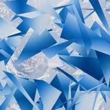 Fragmentos del paisaje del fondo del cielo de la grieta Extracto ilustración del vector