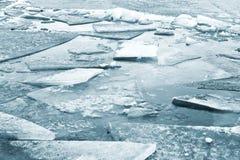 Fragmentos do gelo Fotografia de Stock