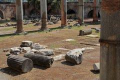 Fragments of broken ancient columns Royalty Free Stock Image