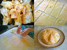 Fragments of cooking a brittle homemade cookie Royalty Free Stock Photos