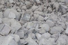 Fragments de béton cassé utilisé Fond, les conséquences du tremblement de terre photo stock