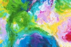 Fragments de couleur souill?s sur le papier de l'art photographie stock libre de droits