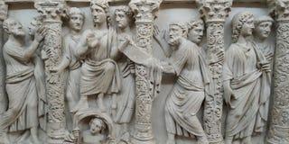Fragments de l'avant des sarcophages photographie stock libre de droits