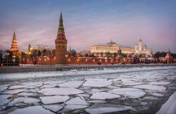 Fragments de l'hiver de Moscou Images libres de droits