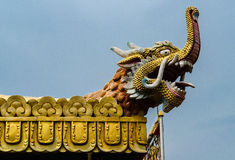 Fragments of the decoration of the temple Stock Photography