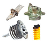 Fragments of defect of insulators for High Voltage Stock Photo