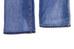 Fragments of denim trousers Stock Photography