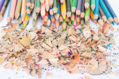 Fragments des crayons images libres de droits
