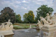Fragments des fontaines du château de Cesky Krumlov image libre de droits