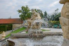 Fragments des fontaines du ch?teau de Cesky Krumlov photos stock