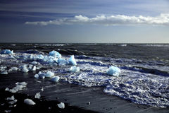 Fragments des icebergs Photographie stock