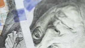 Fragments of dollars stock footage