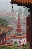 Fragments du temple célèbre de Puning dans Chengde au nord de Beijin Images stock