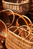 Fragments of empty wicker basket Royalty Free Stock Photography