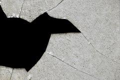 Fragments en verre cassés Photos stock