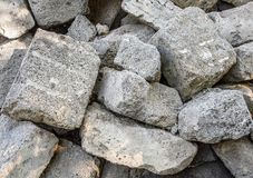 Fragments of foam blocks stock photography