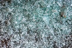 Fragments of glass. Top view royalty free stock photos