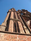 Fragments of a Gothic church Royalty Free Stock Photo