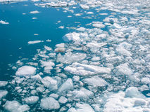Fragments of icebergs. That melt during the summer in the ocean of Alaska stock images