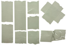 Fragments of the insulated tape Stock Image