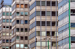 Fragments of modern office buildings. In Poznan Stock Image