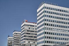 Fragments of modern office buildings. In Poznan Stock Photo