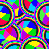 Fragments of mosaic. Seamless pattern of colorful mosaic balls Royalty Free Stock Photography