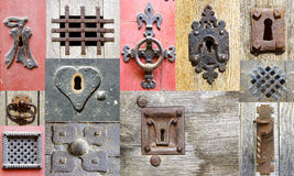 Fragments old doors. France Royalty Free Stock Photos