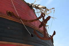 Fragments of a pirate ship Stock Photo