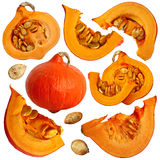 Fragments of pumpkin Stock Photos