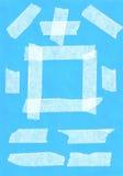 Fragments of a sticky tape. Fragments of a sticky tape on a color background stock photography