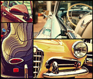 Fragments of vintage automobiles. Retro style. Potpourri. Luxury Royalty Free Stock Images