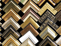 Fragments of wooden frames Royalty Free Stock Photo