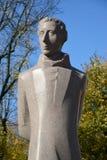 Fragmtnt du monument Lyudvikasu Reza (Ludwig Reza) à Kaliningrad Photographie stock