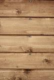 Fragnent van de houten muur met spijkers Stock Foto
