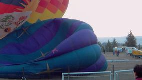 Time lapse of inflated balloon stock video footage