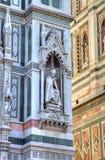 Fragnment de la catedral Santa María del Fiore Imágenes de archivo libres de regalías