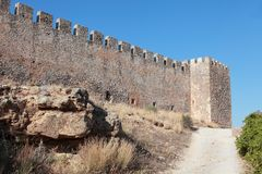 Fragocastello fort, Crete Royalty Free Stock Photos