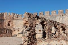 Fragocastello fort, Crete Royalty Free Stock Photos
