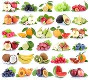Fragola arancio gr della banana di mele della mela della raccolta della frutta di frutti Immagini Stock Libere da Diritti