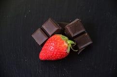 Fragola con cioccolato Fotografie Stock