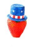 Fragola del cappello superiore Fotografie Stock Libere da Diritti
