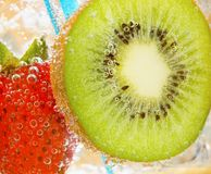 Fragola del Kiwi Immagine Stock