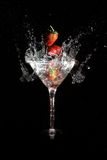 Fragola del Martini Fotografie Stock