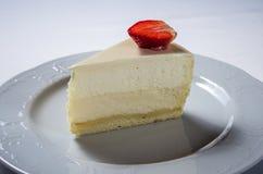 Fragola della torta di formaggio fotografia stock libera da diritti