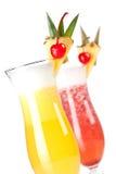 Fragola e cocktail classico di Pina Colada Fotografia Stock